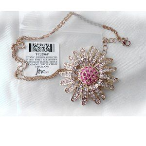 Titanic Jewelry Collection Flower Brooch Necklace